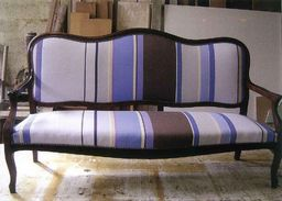Napoleon III sofa covered by the fabric